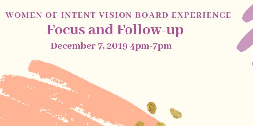 Women of Intent 2020 Vision Board Experience