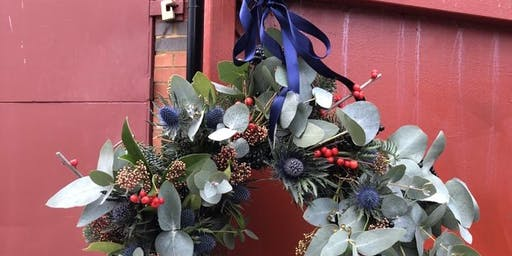 Christmas wreath decorating workshop with Gray & Greenery