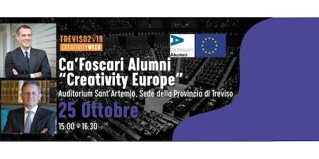 Creativity Europe con gli Alumni di Ca' Foscari biglietti