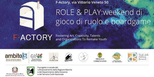 Role and Play: gioco di ruolo e boardgame @F-Actory