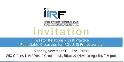 Investor Relations - Best Practice
