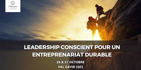 Leadership conscient pour une entreprenariat durable billets