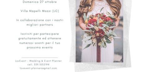 Open Day Wedding 27 Ottobre biglietti