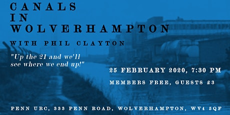 Canals in Wolverhampton with Phil Clayton tickets