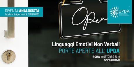 Linguaggi Emotivi Non Verbali - Porte aperte all'UPDA biglietti