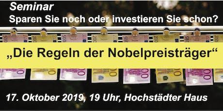 """Seminar """"Die Regeln der Nobelpreisträger"""" Tickets"""