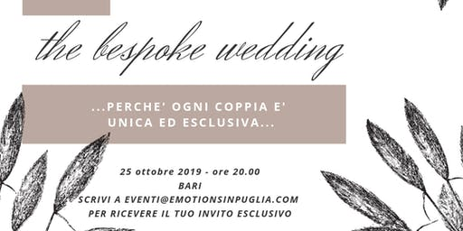 The bespoke wedding
