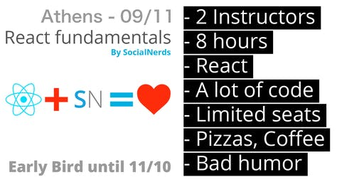 React fundamentals - SocialNerds - Sold out