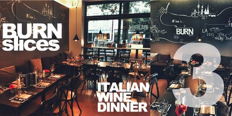 Italian wine dinner 3 Tickets