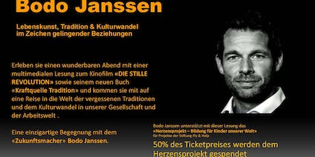"Bodo Janssen - Multimediale Lesung ""Kraftquelle Tradition"" Tickets"