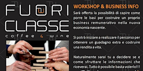 FUORI CLASSE WORKSHOP & BUSINESS INFO tickets