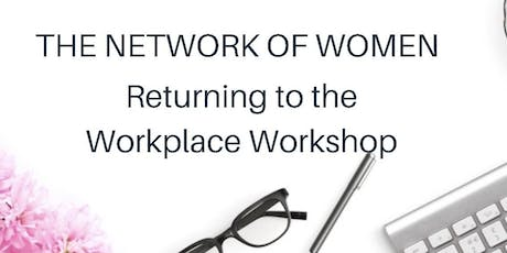 Women's Return to the Workforce Workshop - NYC - MORNING SESSION tickets