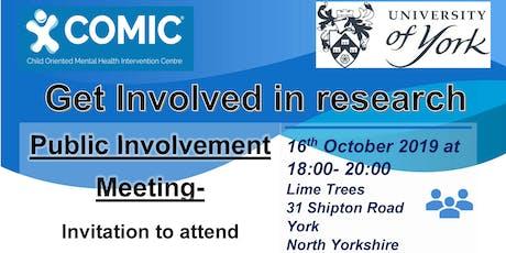Public Participation meeting- CODA brokering qualitative research project tickets