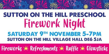 Sutton-on-the-Hill Pre-School Firework Night 2019 tickets