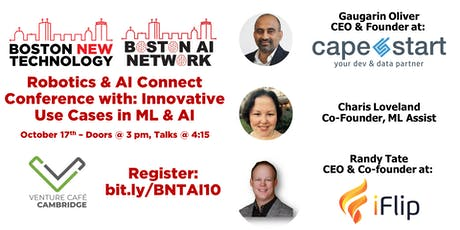Robotics & AI Connect Conference with: Innovative Use Cases in ML & AI tickets