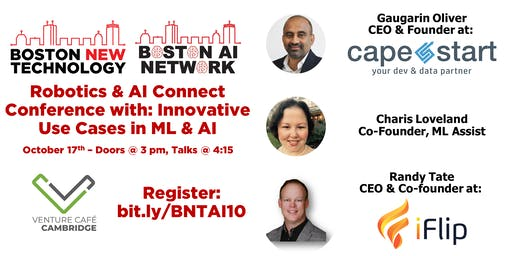 Robotics & AI Connect Conference with: Innovative Use Cases in ML & AI