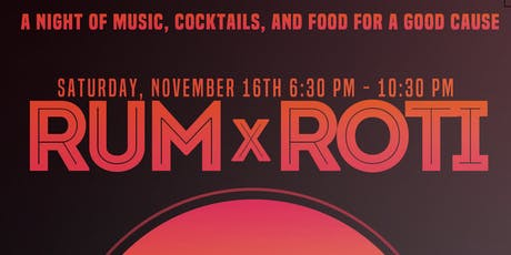 Rum x Roti: A food experience with cocktails and music supporting children affected by Hurricane Dorian tickets