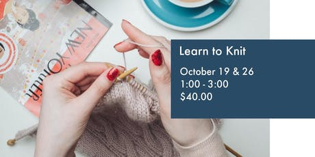 Learn to Knit tickets