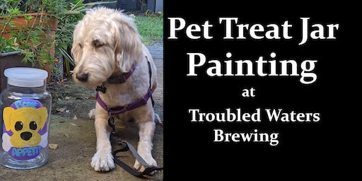 Pet Treat Jar Painting at Troubled Waters