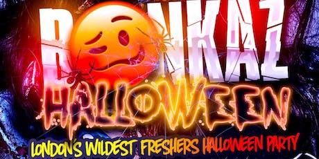 BONKAZ - London's Wildest Halloween Party tickets