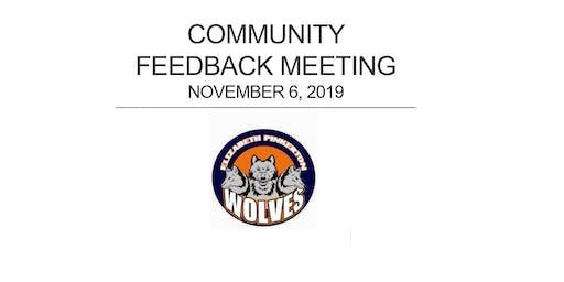 Community Feedback Meeting