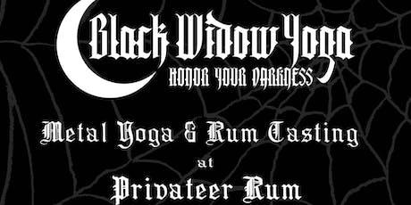 Metal Yoga, Rum Tasting & Tour at Privateer Rum tickets