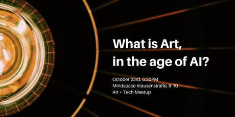 What is art, in the age of AI? tickets