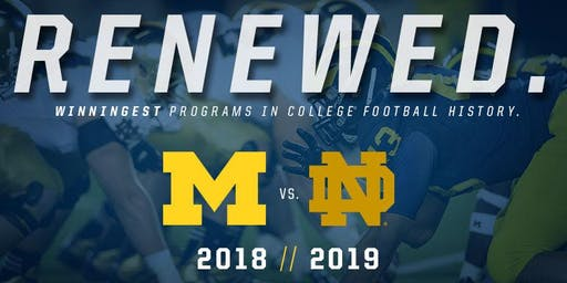 Michigan vs. Notre Dame Football Watch Party