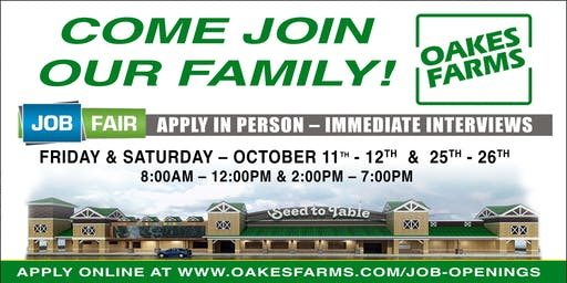 Oakes Farms Job Fairs