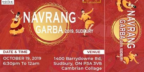 Navrang Garba 2019, Sudbury tickets