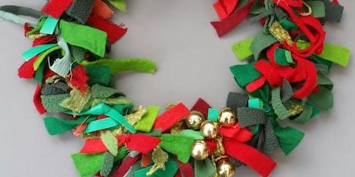 Christmas Fabric Wreath Workshop with Agnis Smallwood