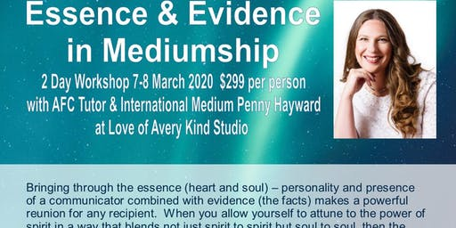 Essence & Evidence in Mediumship with  UK Medium Penny Hayward