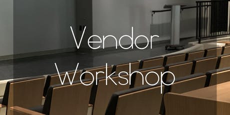 Vendor Workshop tickets