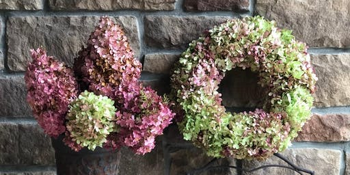 Dried Hydrangea Wreath Workshop