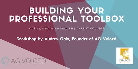Building Your Professional Toolbox by AG Voiced at Chabot College tickets