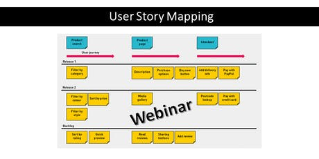 Webinar:User Story Mapping - 24/10 - GRATUITO ingressos