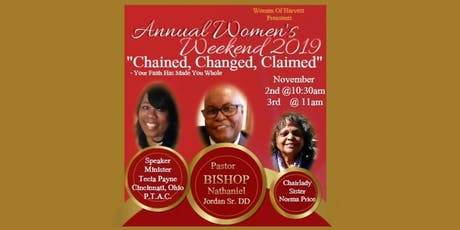 """WOMEN OF HARVEST """"Chained, Changed, Claimed"""" tickets"""