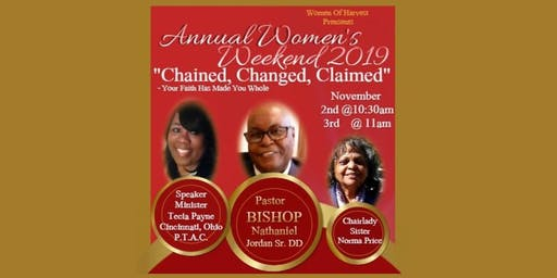 """WOMEN OF HARVEST """"Chained, Changed, Claimed"""""""