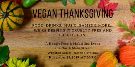 Vegan Thanksgiving tickets