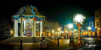 Night Photography Workshop: Downtown Front Royal at Holiday Time