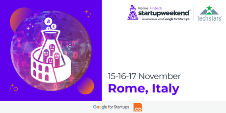 Techstars Startup Weekend Rome Fintech Edition | Nov 2019 biglietti
