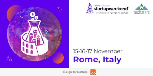 Techstars Startup Weekend Rome Fintech Edition   Nov 2019