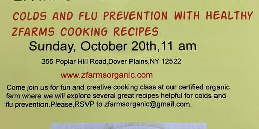 Colds and flu prevention cooking class 10/20 at 11 am