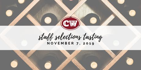 Calvert Woodley's 2019 Fall Catalog Staff Selections Tasting tickets