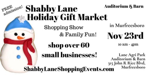 Shabby Lane's Holiday Gift Market in Murfreesboro