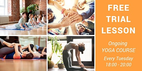 Free Trial Lesson Yoga Course in English  tickets