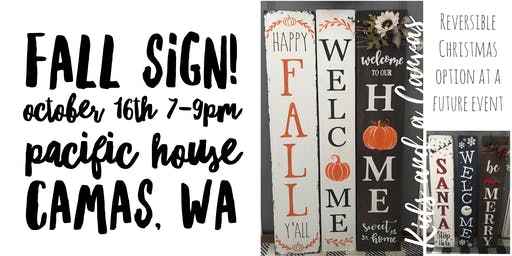 Fall Porch Sign Paint and Sip!