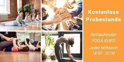 Kostenlose Probestunde Yoga Kurs auf Deutsch