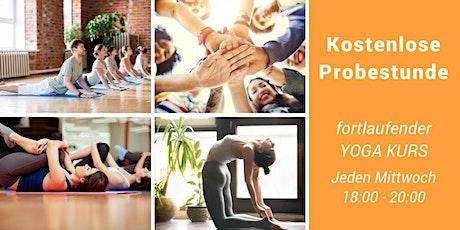 Kostenlose Probestunde Yoga Kurs auf Deutsch Tickets