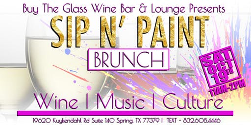 Sip n' Paint Brunch | Spring & N. Houston